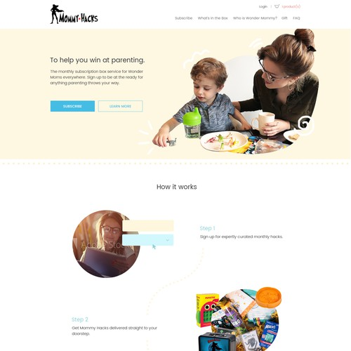 Design for a subscription box service