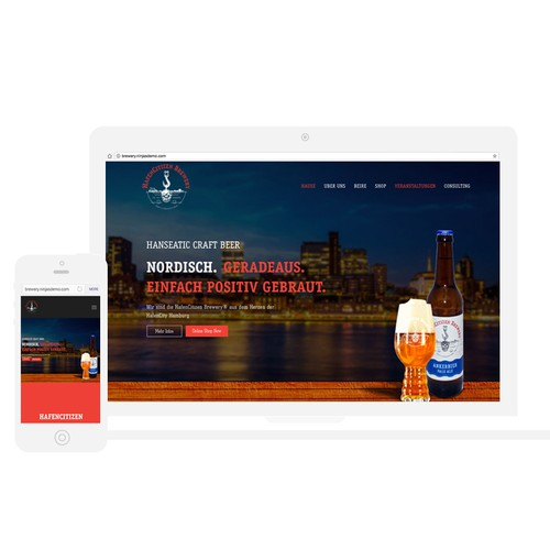 Brewery HafenCitizen Website Design & Development