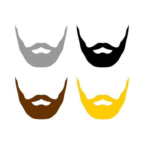 Masculine Beard Icon