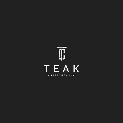 Winning logo concept for Teak Craftsmen