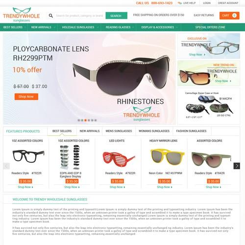 Create a very high quality design for TrendyWholesaleSunglasses.com!