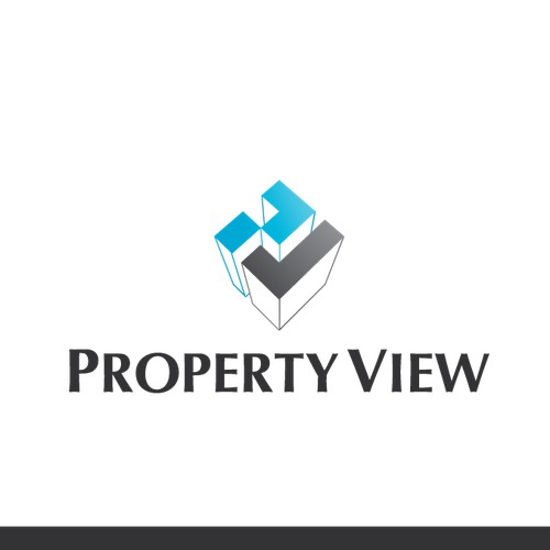 Create a smart , modern & strong  logo design for property view a building & construction company
