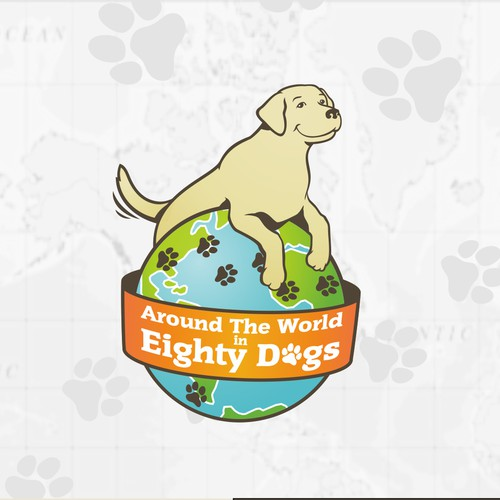 Fun logo for a travelling dog blog