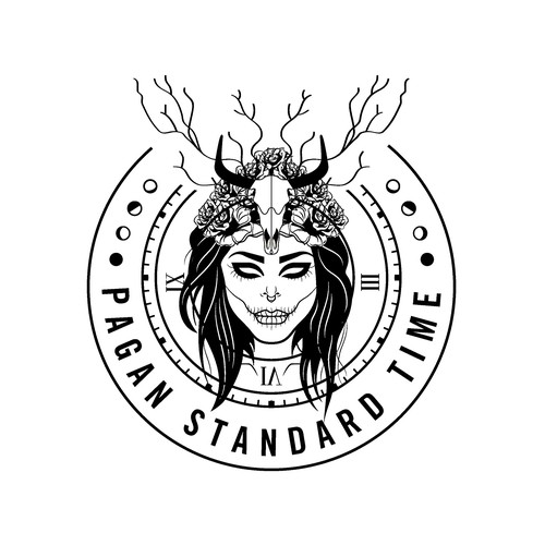 Gothic Goddess Logo Design
