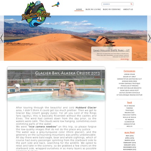 Creative World Travel Website/Blog - With Creative Hand Drawn Illustration