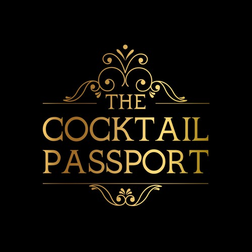 Elegant logo for cocktails