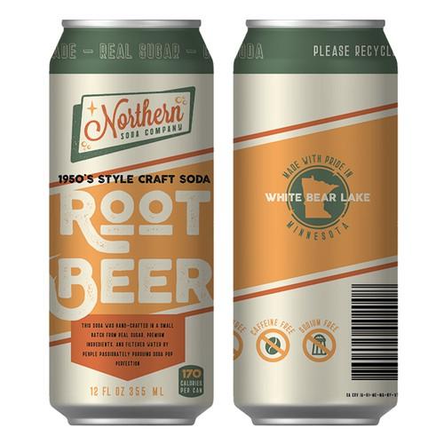 Retro beer can design