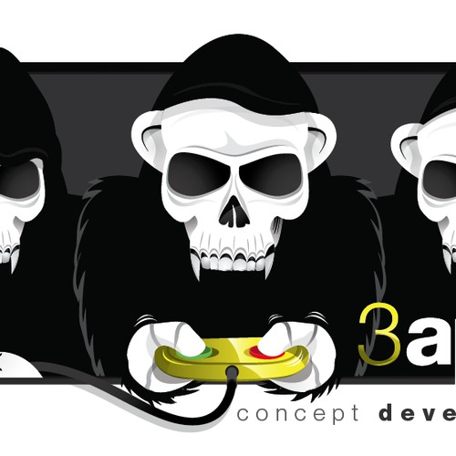 3apes logo for gaming company.