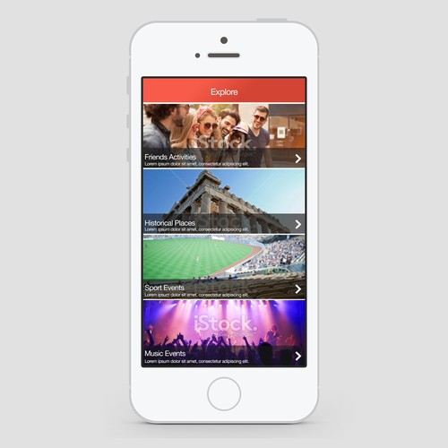 Create design for travel app called SeeSaw