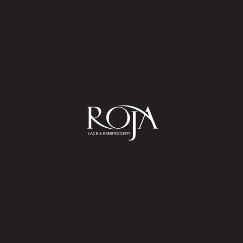 Logo design for ROJA lace and embroidery industry