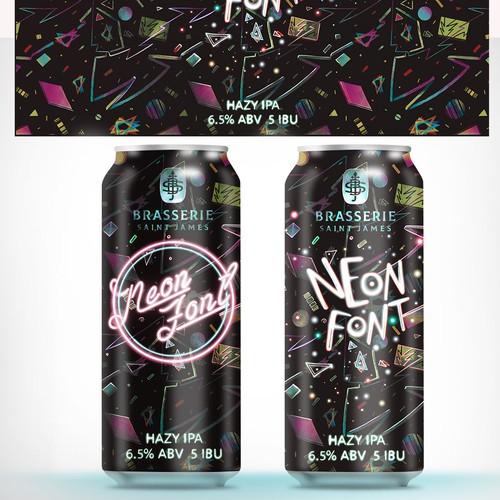 Neon Beer Label