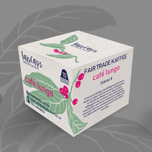 Coffee capsule box