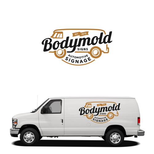 Retro typography logo concept for Bodymold Signs