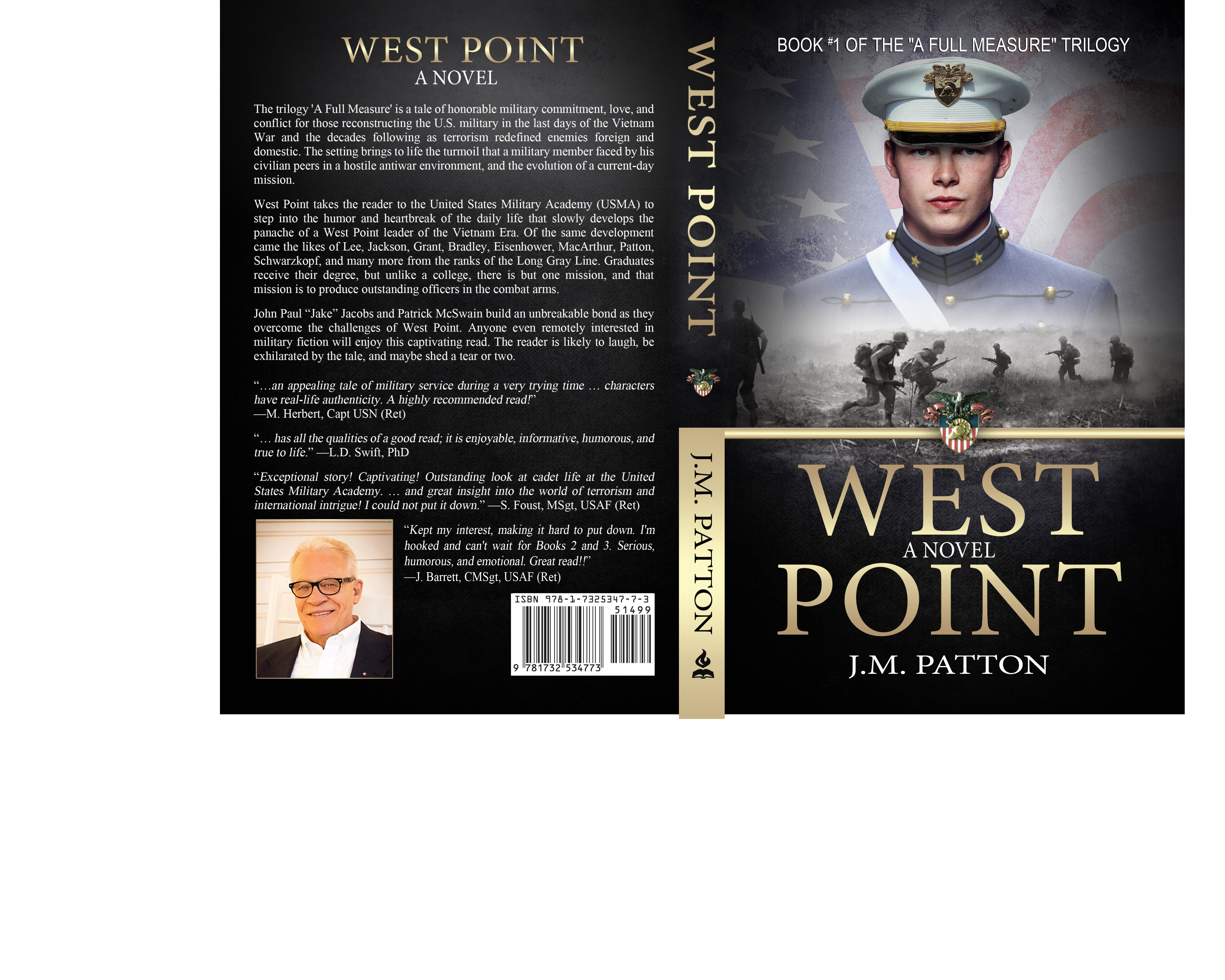 (NEW) Design an inspiring, patriotic, and simple book cover for a military novel
