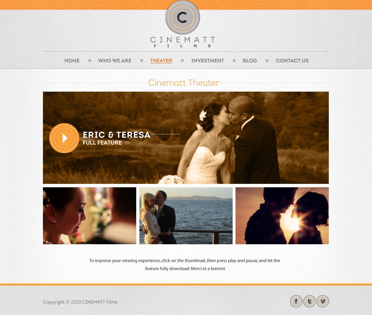 New website design wanted for cinematt