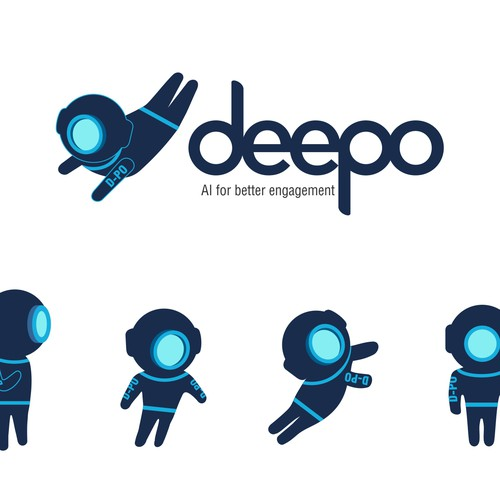mascot logo design for deepo
