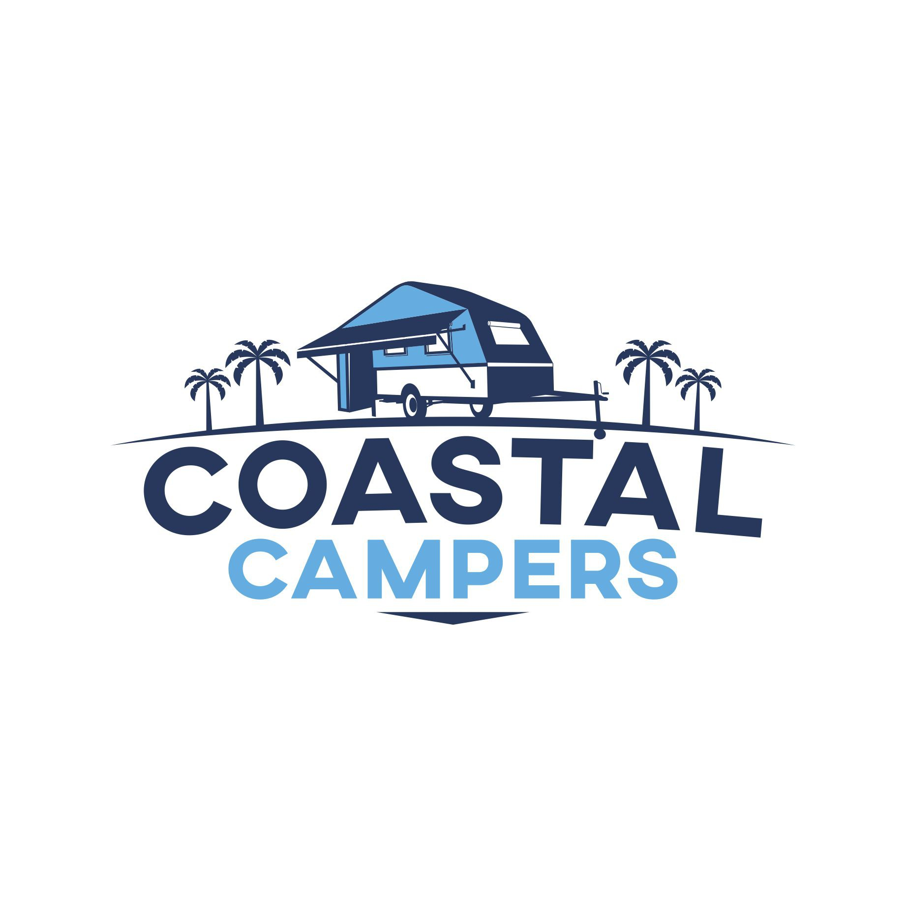 Design a company logo for a camper trailer hire company for signage, digital and print media.