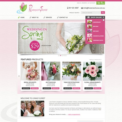 Riverport Florsists Needs a Beautiuful New Website