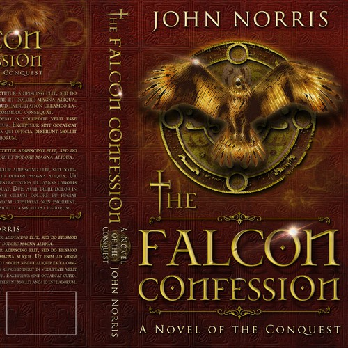 "Creating a stunning book cover for ""The Falcon Confession"""