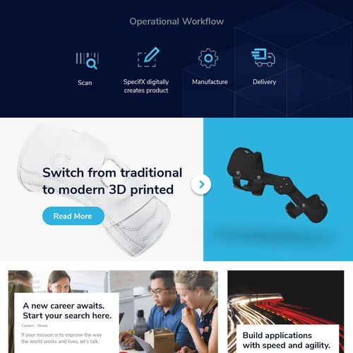 Landing Page design concept for caboma