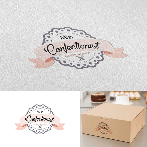 """""""Miss Confectionist"""" desserts and pastries logo"""