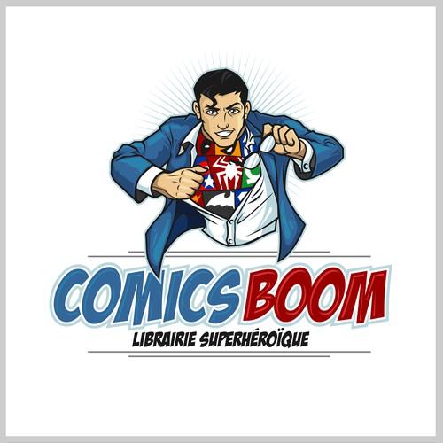 Comics Boom Logo & Brand Identity Pack