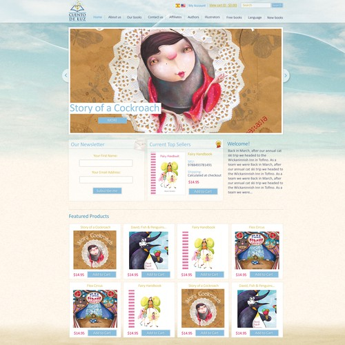 Website Design for E-commerce Company - Childrens books publisher