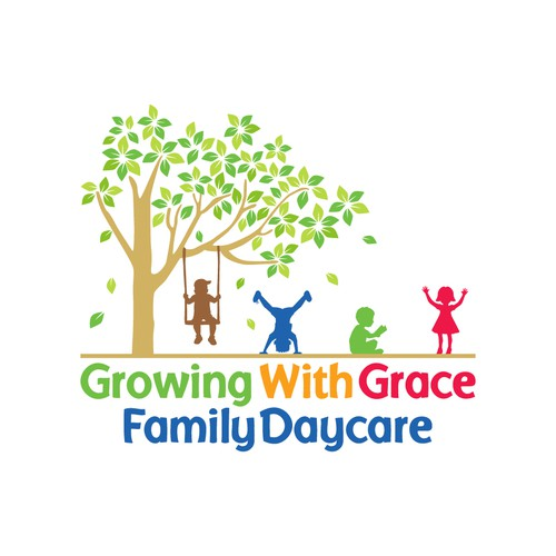 Vibrant logo for a daycare