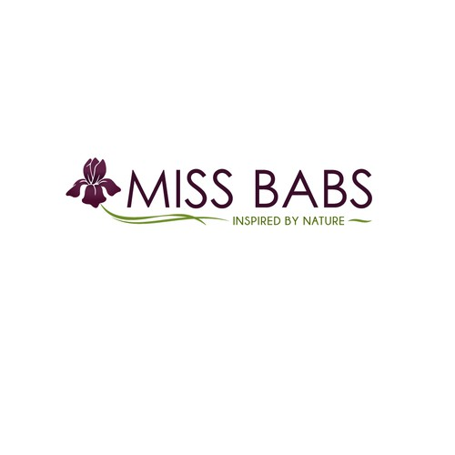 Elegant logo for Miss Babs hand dyed yarn