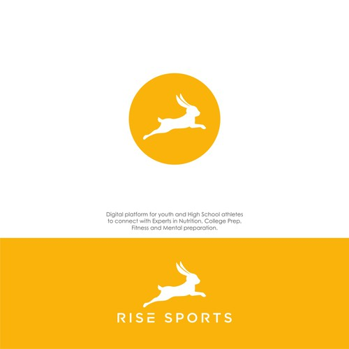 Bold logo concept for Rise Sports.
