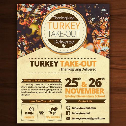 Flyer turkey take out