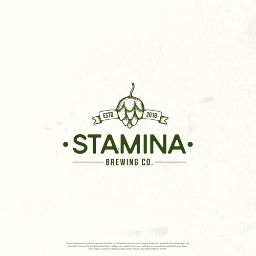 Vintage Logo - STAMINA Brewing Co