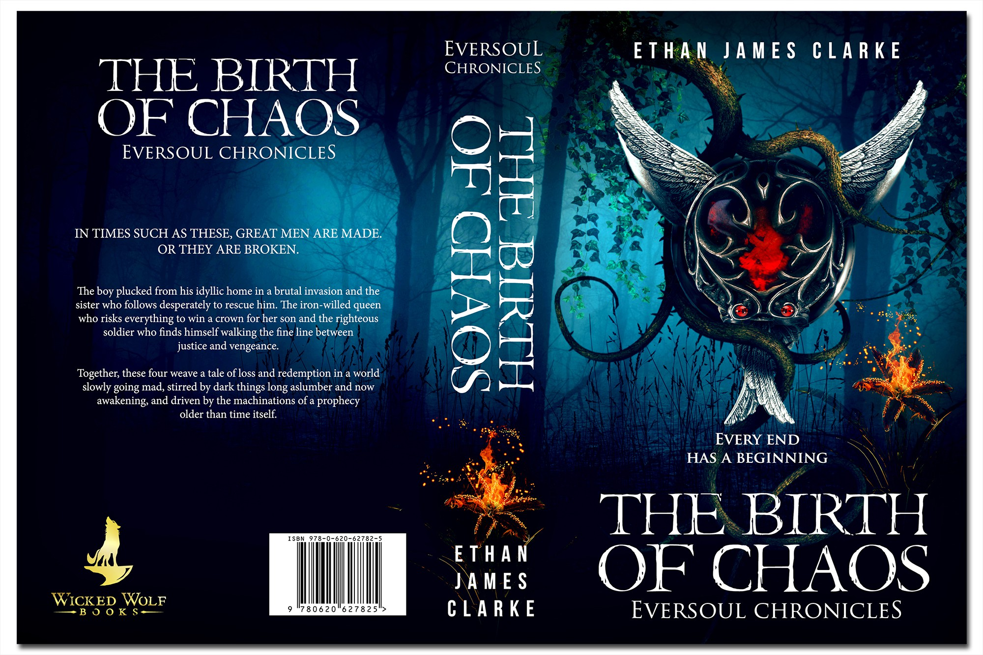Create a must-read cover for epic fantasy The Birth of Chaos