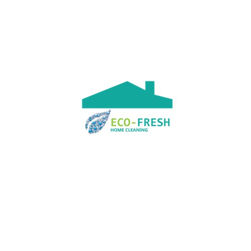 logo concept for eco- fresh home cleaning company
