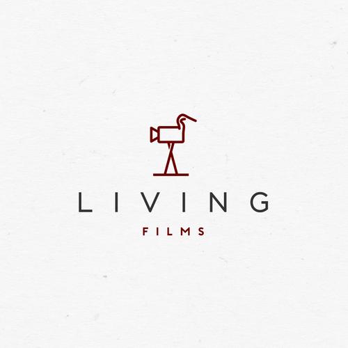 living films logo design
