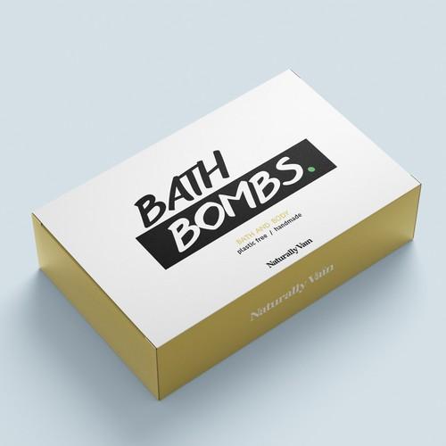 Bath bombs box design