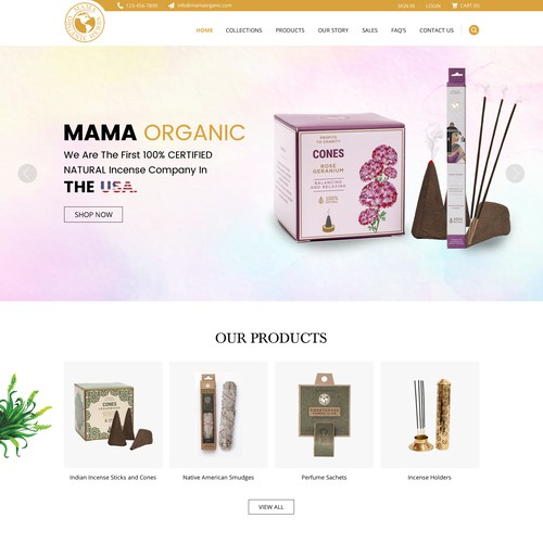 Organic herbal Ecommerce Website