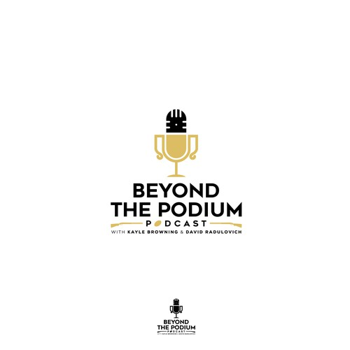 Bold logo for Beyond The Podium Podcast
