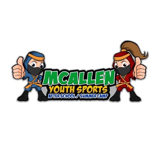 logo concept for kids summer camp