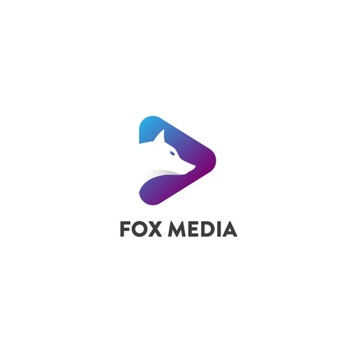 modern logo design for Fox Media