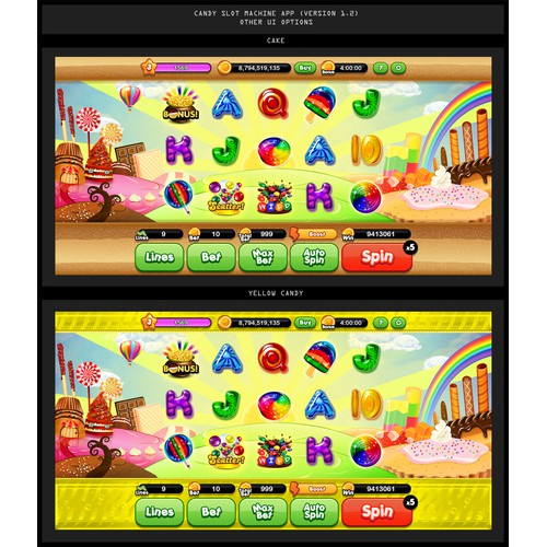 Create the SWEETEST Candy Slot Machine App Design you can imagine!