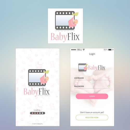 BabyFlix Mobile App Design