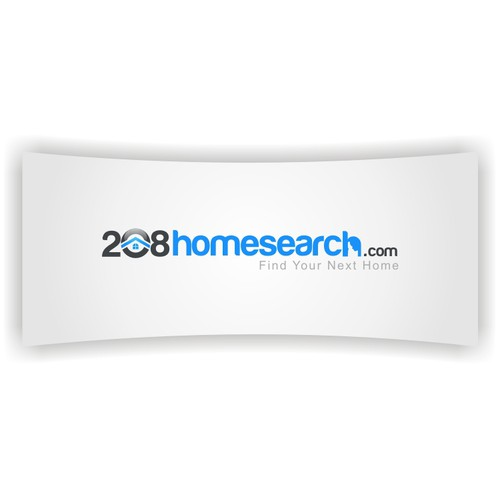 Badass, simple, clean logo for 208homesearch.com
