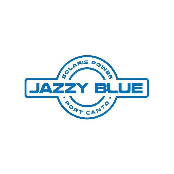 cap logo jazzy blue