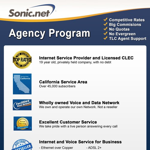 Agency Program Flyer needs a new postcard or flyer