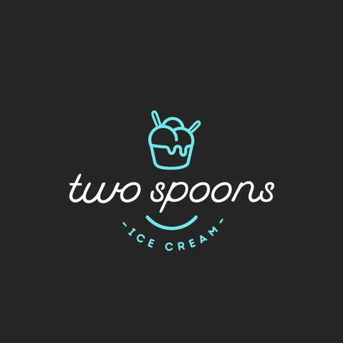 Logo for Two Spoons Ice Cream