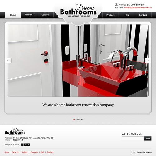 Create the next website design for Dream Bathrooms