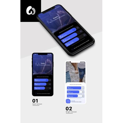 Subscription screen mobile app design