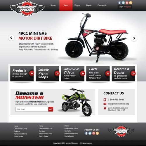 Create the MonsterMoto mini-bike and go-kart site!