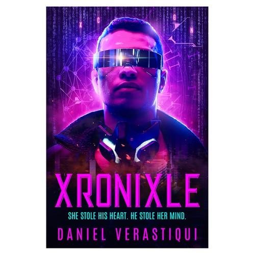 Xronixle - Cyberpunk Novel Cover Design